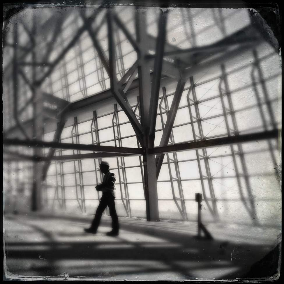 An Iphone tour of the Canadian Museum for Human Rights. All photos  taken using the Hipstamatic app with a Gsquad lens/D-type black-and-white film combo.  (Mike Aporius/Winnipeg Free Press)